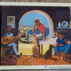 Arte: ÓLEO SOBRE TABLA.FIRMA ILEGIBLE.FIRMADO 68. Lote 34986095