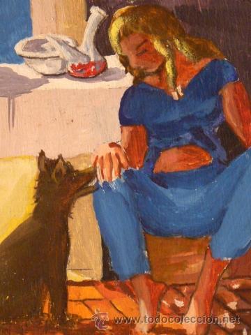 Arte: óleo sobre tabla.Firma ilegible.firmado 68 - Foto 3 - 34986095