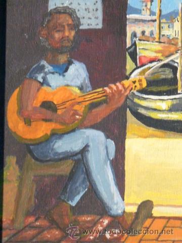 Arte: óleo sobre tabla.Firma ilegible.firmado 68 - Foto 5 - 34986095