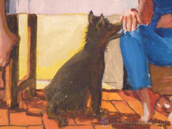 Arte: óleo sobre tabla.Firma ilegible.firmado 68 - Foto 7 - 34986095