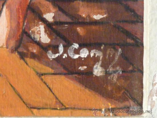 Arte: óleo sobre tabla.Firma ilegible.firmado 68 - Foto 9 - 34986095