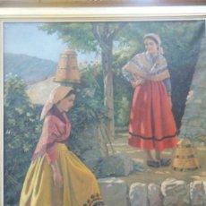 Arte: PAISAJE CON FIGURAS DE GALOFRE SURIS 1958.. Lote 35174643