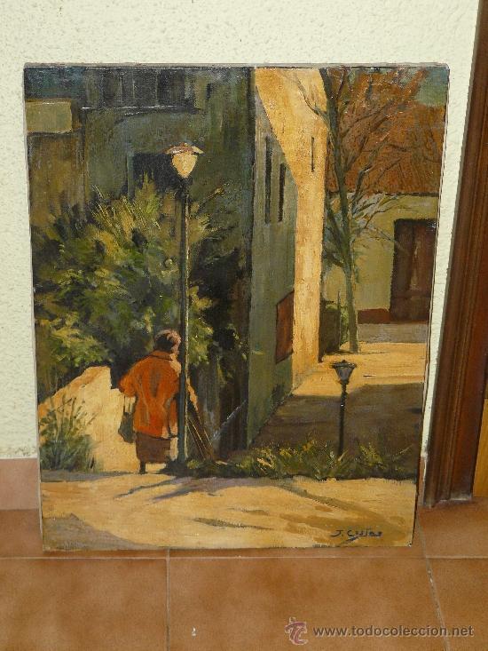 oleo / tela - firmado j costas - paisaje urbano - Comprar Pintura al ...
