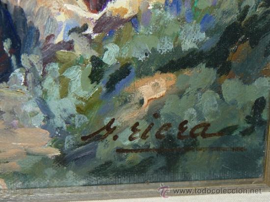 Arte: OLEO / TELA - FIRMADO M. RIERA. - ROQUES EN EL PARC -(ROCAS EN EL PARQUE) - Foto 5 - 35175119