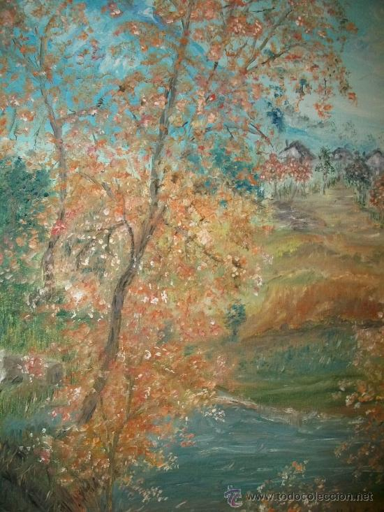 hojas de otoño - 41 x 33 pintura lienzo origina - Comprar Pintura al ...