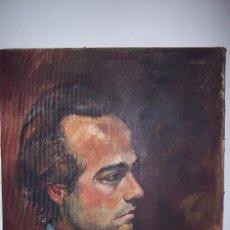 Arte: RETRATO DEL ESCULTOR MARIANO CASTRO (OLEO SOBRE LIENZO). Lote 35234498