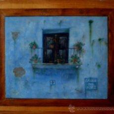 Arte: EXCELENTE PINTURA AL ÓLEO-CALLE DEL POZO.OBRA ORIGINAL DE AUTOR. Lote 35327269