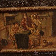 Arte: ANTIGUA PINTURA AL ÓLEO.ESCENA COSTUMBRISTA VALENCIANA.. Lote 35330894