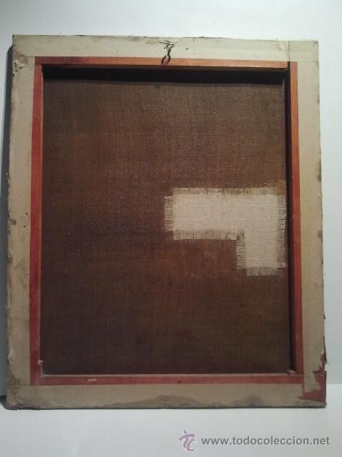 Arte: San Juanito. Óleo sobre lienzo. Escuela Colonial s. XVII. - Foto 4 - 35468836