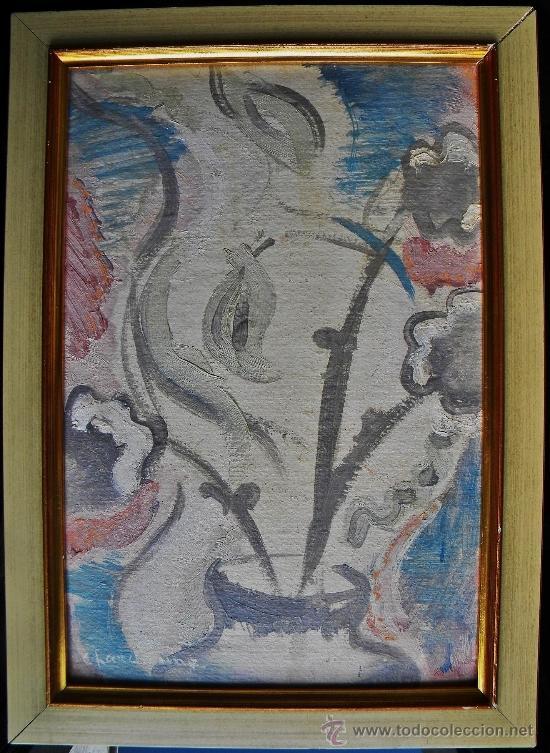 SERGE CHARCHOUNE RUSIA 1888-1975 EXPRESIONISMO BODEGON DE FLORES OLEO/CARTON (Arte - Pintura - Pintura al Óleo Moderna siglo XIX)