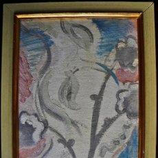 Arte: SERGE CHARCHOUNE RUSIA 1888-1975 EXPRESIONISMO BODEGON DE FLORES OLEO/CARTON. Lote 31612148