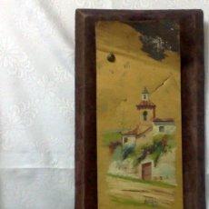 Arte: FIRMADO.- HERVAZ.- SIGLO XIX-XX, OLEO/CHAPA, - ERMITA -. Lote 35557007