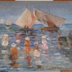 Arte: OLEO SOBRE TABLEX DE VICENTE SEGURA FIRMADO CON EL NOMBRE DE UN AMIGO (SEUDONIMO) 30X21 CMS. Lote 35601838