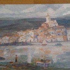 Arte: OLEO SOBRE TABLEX DE VICENTE SEGURA FIRMADO CON EL NOMBRE DE UN AMIGO (SEUDONIMO) 30X21CMS. Lote 35601977