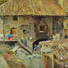 Arte: CASAS. ÓLEO/TABLA. AUTOR: RAFFAELE TAFURI (1857-1929). FIRMADO.. Lote 35611731