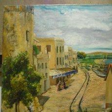 Arte: RAMON JOU SENABRE (1893 -1978). PUEBLO COSTERO. FIRMADO. Lote 35682587