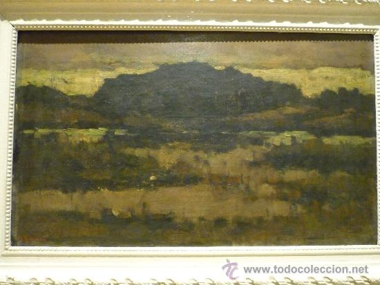 Arte: PAISAJE DE LA ESCUELA DE BARBIZON. OLEO SOBRE TELA. FIRMADO ILEGIBLE. - Foto 2 - 35809251