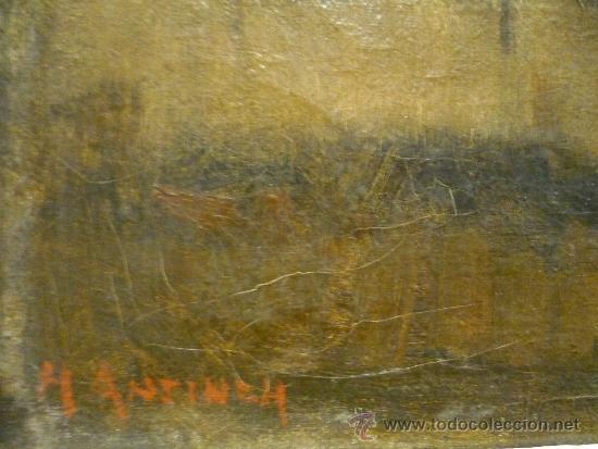 Arte: PAISAJE DE LA ESCUELA DE BARBIZON. OLEO SOBRE TELA. FIRMADO ILEGIBLE. - Foto 5 - 35809251