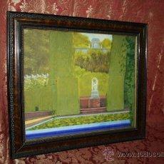 Arte: A1-043. O/L FIRMADO F. PEIRO MARTIN REPRESENTANDO BELLO JARDÍN PRIMER TERCIO S.XX. Lote 35811295