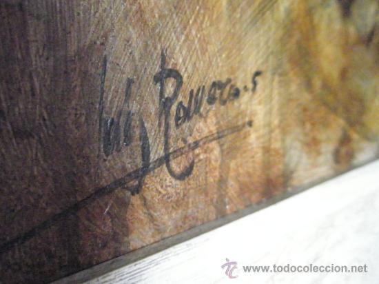 Arte: CUADRO CON MARCO AL ÓLEO-BODEGÓN MEMBRILLOS-LUIS M.ROMERO-73x63/60x50 Cms-CERTIFICADO AUTOR-NUEVO. - Foto 3 - 35820298