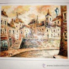 Arte: PAISAJE IMPRESIONISTA DE GRAN CALIDAD, OLEO DE SANZ MEDIDAS 44/36. Lote 35901760
