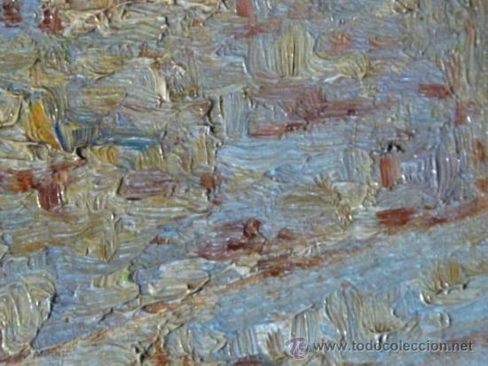 Arte: antiguo oleo sobre tela.firma ilegible. - Foto 4 - 35955574