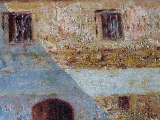 Arte: antiguo oleo sobre tela.firma ilegible. - Foto 5 - 35955574