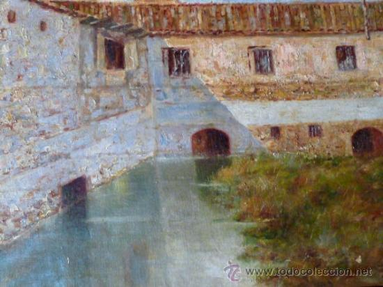 Arte: antiguo oleo sobre tela.firma ilegible. - Foto 6 - 35955574