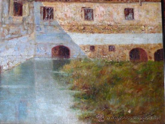 Arte: antiguo oleo sobre tela.firma ilegible. - Foto 7 - 35955574