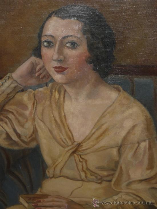 Arte: OLEO / TELA - FIRMADO DIVORI - 1933 - RETRATO FEMENINO - Foto 2 - 35982919