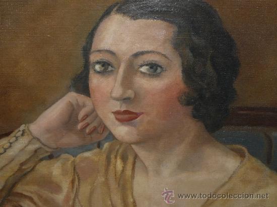 Arte: OLEO / TELA - FIRMADO DIVORI - 1933 - RETRATO FEMENINO - Foto 3 - 35982919