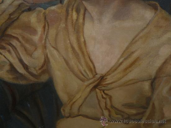 Arte: OLEO / TELA - FIRMADO DIVORI - 1933 - RETRATO FEMENINO - Foto 4 - 35982919
