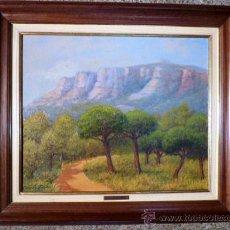 Arte: OLEO SOBRE TELA DE GARCIA ELIAS 1989.CAMÍ DELS MONJUS.. Lote 36020706