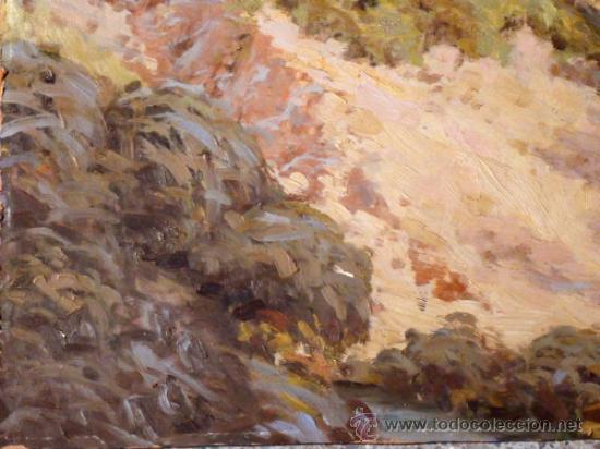 Arte: magistral óleo sobre tabla.Firma ilegible. Mallorca ??Benedicto?? - Foto 4 - 36021052
