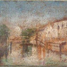 Kunst - Anónimo / 19 x 26 cm / óleo sobre madera / paisaje. - 36055804