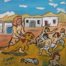 Arte: HÉRCULES ASUSTA A LOS NIÑOS DE CRESPO. Lote 36067933