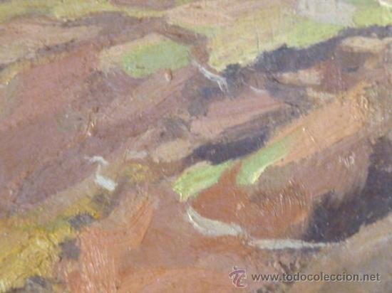 Arte: maravilloso óleo sobre tabla. Firmado L.Reig.Escuela catalana - Foto 3 - 36185829