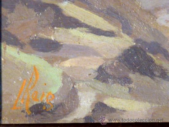 Arte: maravilloso óleo sobre tabla. Firmado L.Reig.Escuela catalana - Foto 7 - 36185829
