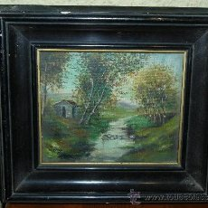 Arte: OLEO / TELA ADHERIDA A TABLEX - FDO CASTILLO - PAISAJE. Lote 36212678