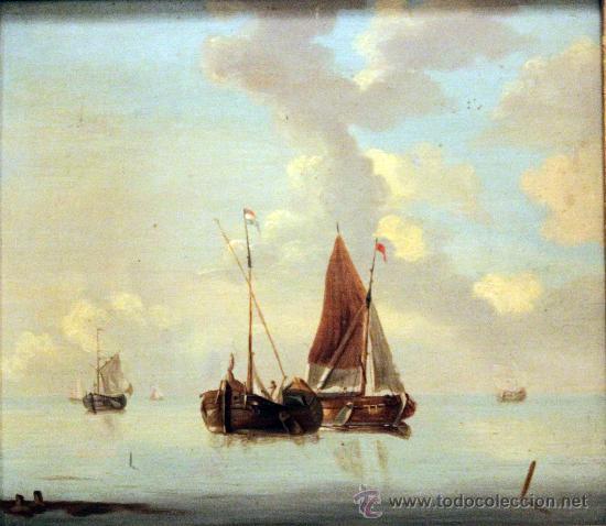 ANONIMO HOLANDES (Arte - Pintura - Pintura al Óleo Antigua siglo XVIII)