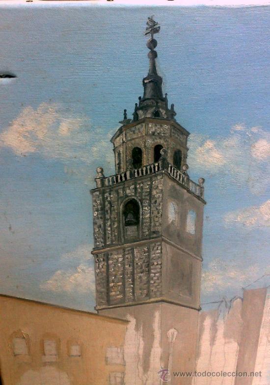 Arte: TORRE.- INTERESANTE CUADRO AL OLEO, ABOCETADO. - Foto 7 - 36374071