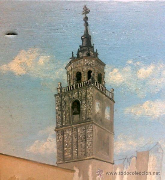 Arte: TORRE.- INTERESANTE CUADRO AL OLEO, ABOCETADO. - Foto 6 - 36374071