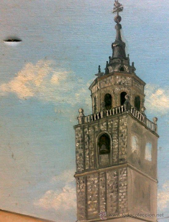 Arte: TORRE.- INTERESANTE CUADRO AL OLEO, ABOCETADO. - Foto 5 - 36374071