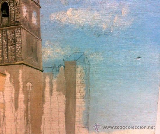 Arte: TORRE.- INTERESANTE CUADRO AL OLEO, ABOCETADO. - Foto 9 - 36374071