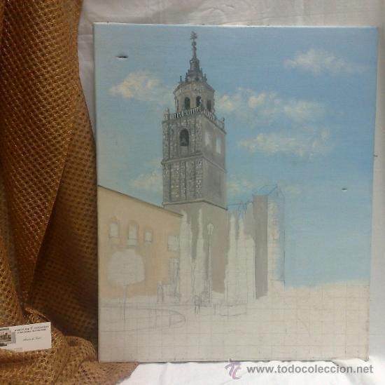 Arte: TORRE.- INTERESANTE CUADRO AL OLEO, ABOCETADO. - Foto 2 - 36374071
