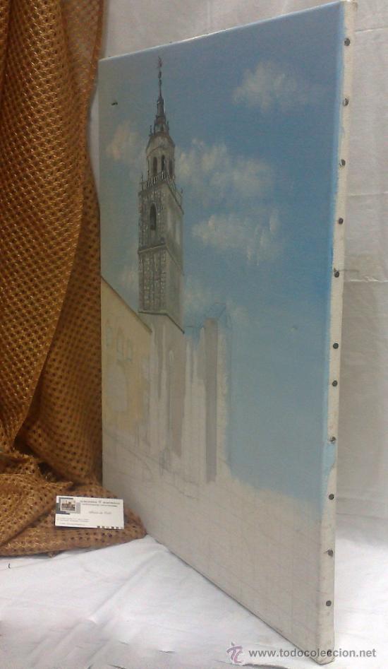 Arte: TORRE.- INTERESANTE CUADRO AL OLEO, ABOCETADO. - Foto 16 - 36374071