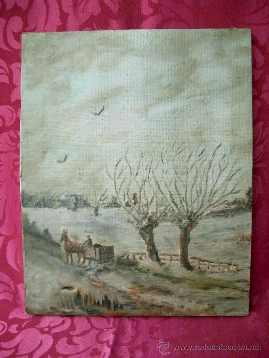 OLEO SOBRE LIENZO S.XIX (Arte - Pintura - Pintura al Óleo Moderna siglo XIX)