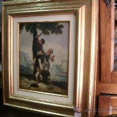 Arte: OLEO ORIGINAL DE MANUEL CABRAL Y AGUADO-SIGLO XVIII CON INFLUENCIAS GOYESCAS-INTERESANTE !!. Lote 36423097