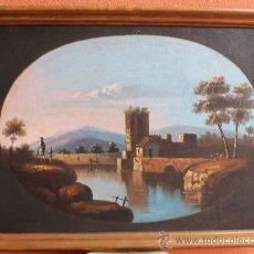 Arte - ANTIGUO OLEO SOBRE LIENZO ESCENA POPULAR - FINALES S. XVIII - ADQUIRIDO EN SALA SUBASTAS - CON MARCO - 36424200