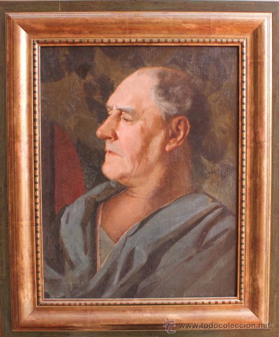 ANTIGUO CUADRO OLEO SOBRE LIENZO RETRATO FIRMA FIRMADO I. SIMINSON (Arte - Pintura - Pintura al Óleo Antigua sin fecha definida)